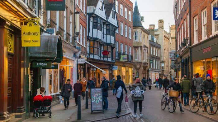 British high street, Cambridge