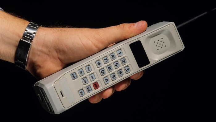 Person holding Cellular phone, close-up of phone