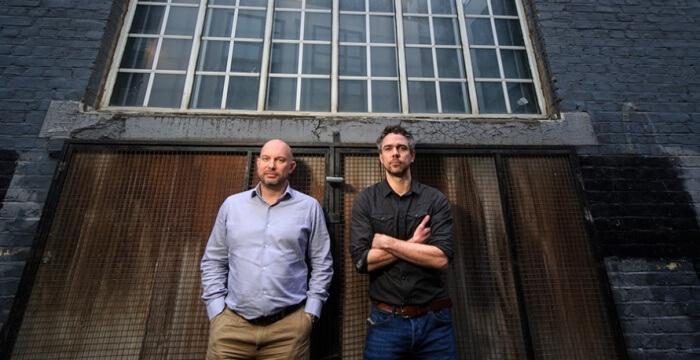 11/02/2015 London, UK. Crowdcube founders Darren
