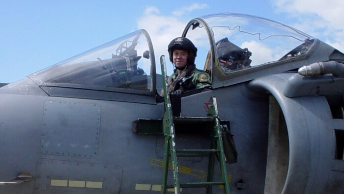 Ed flew two operational tours on a Harrier jet