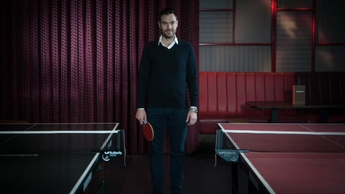 Breeden's idea of combining table tennis with food and drink is proving a big hit