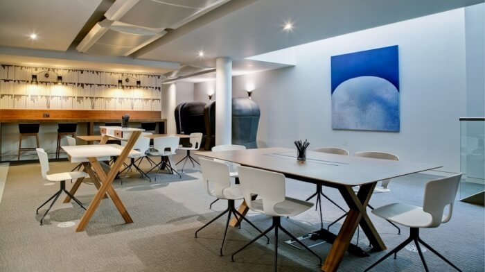 Clubhouse Hot Desks Interior