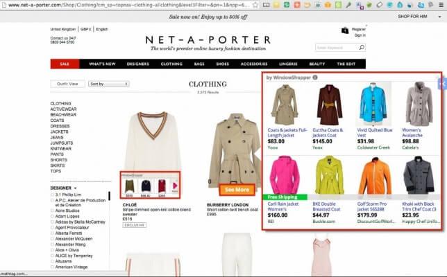 Net a Porter page