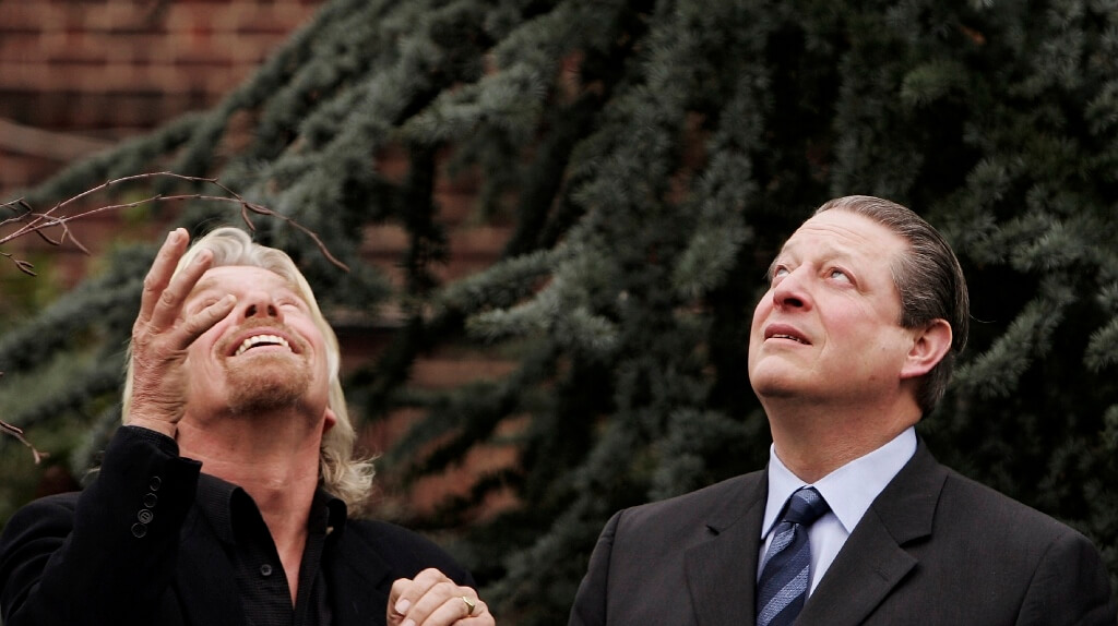 Richard Branson And Al Gore Announce Environmental Initiative