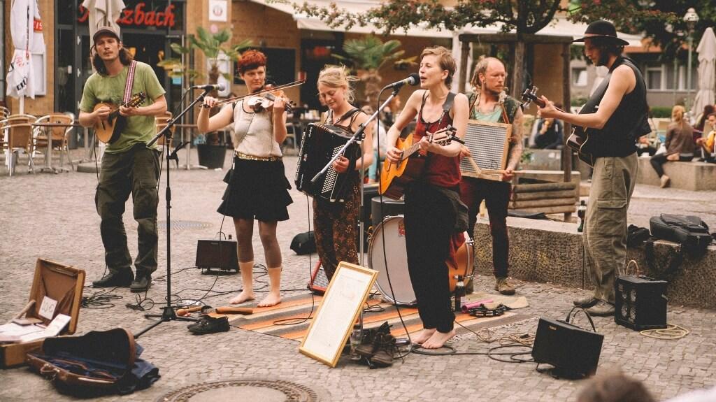 Street band in Berlin, Kreuzberg