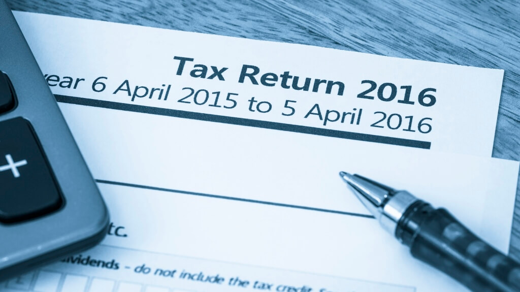 Tax return form 2016