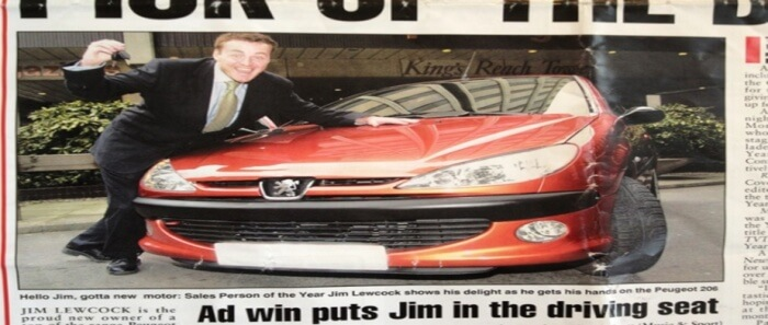Jim cropped newspaper clipping