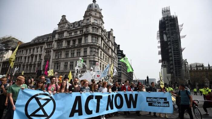 Gove Says Government Must Act As Climate Change Protesters Reach Parliament