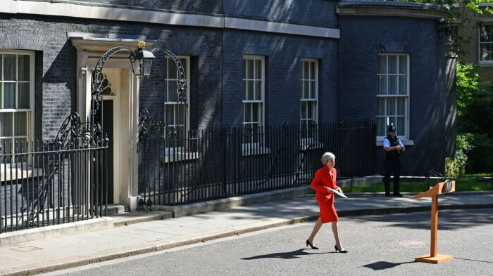Tearful May Announces She Is To Quit As Tory Leader On June 7