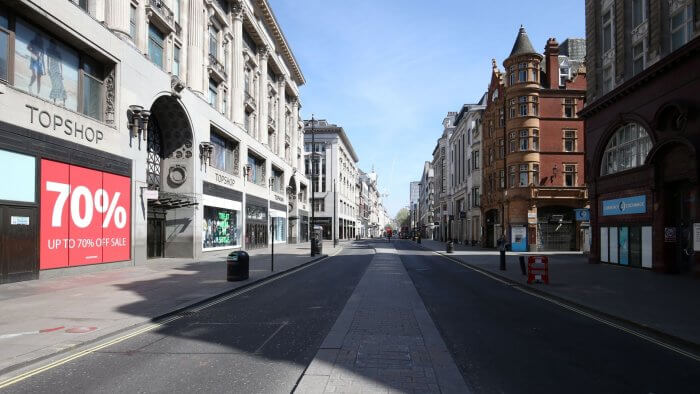 Number Of Empty Shops Continues To Rise Across UK After Covid Hit