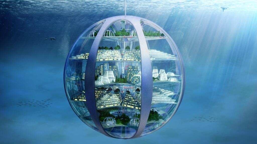 Under-water city