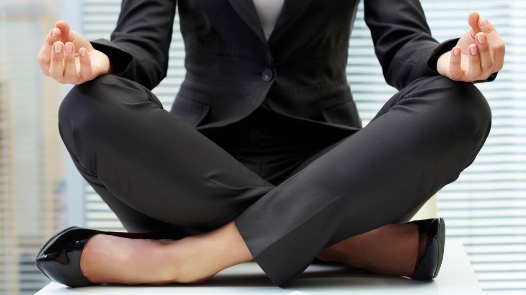 Yoga on table
