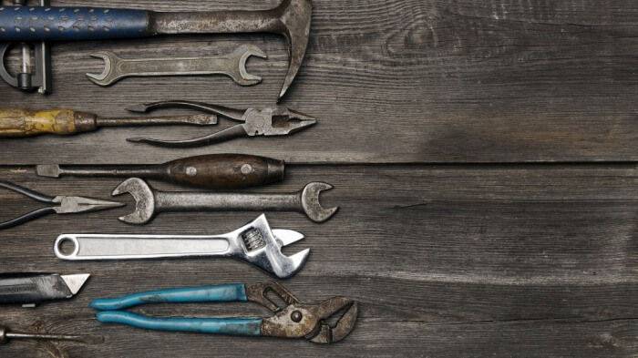 Old working tools